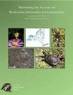 Maintaining the Accuracy of Biodiversity Information for Conservation, 2017-2019 report cover.
