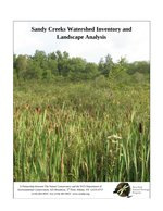 Sandy Creeks final report cover.