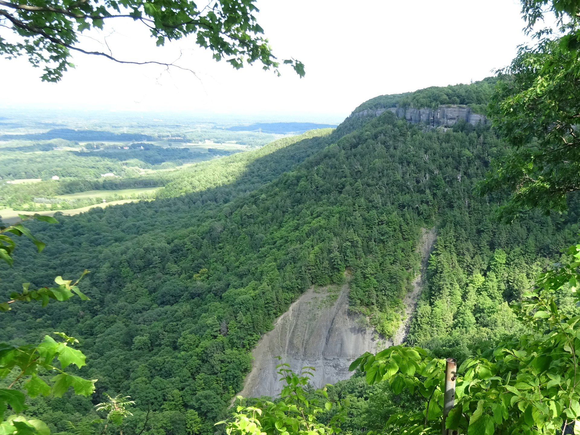 John Boyd Thacher State Park - high quality, mature hemlock-northern hardwood forest occurs on the steep slopes of the Helderberg Escarpment.