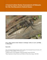 A Conservation Status Assessment of Odonata for the Northeastern United States report cover.